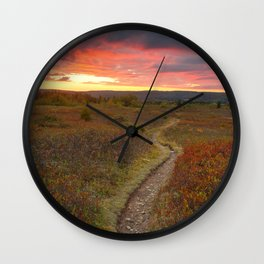 Dolly Sods Twilight Trail Wall Clock