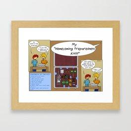 Homecoming Preparedness Kit Framed Art Print