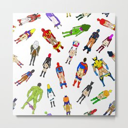 Butt of Superhero Villian - Light Metal Print