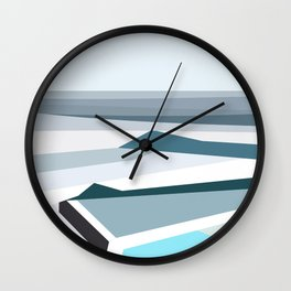 Geometric Bondi beach, Sydney Wall Clock