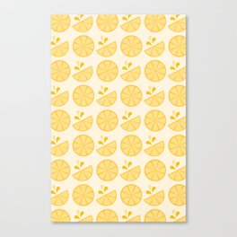 Cheerful Citrus in Yellow Canvas Print