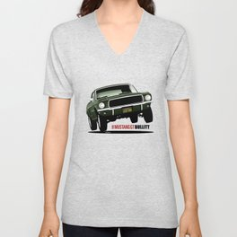 Ford Mustang Fastback GT 1968 from Bullitt Unisex V-Neck