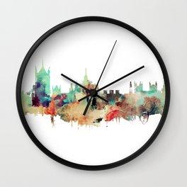 London Watercolor Skyline Wall Clock