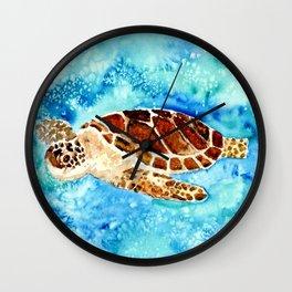 Sea Turtle Painting Wall Clock