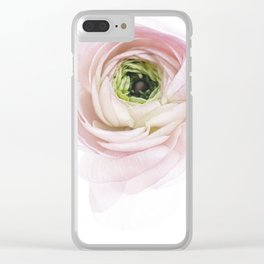 Pink Ranunculus Flower I Clear iPhone Case