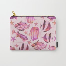 Soft pink underwater fisch scenery Carry-All Pouch