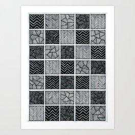 Checkered pattern Art Print