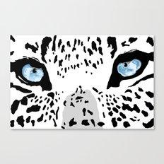 The blues; leopard. Canvas Print
