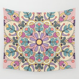 Happiness is Now Mandala Wall Tapestry