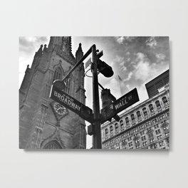 Broadway and Wall Street Metal Print