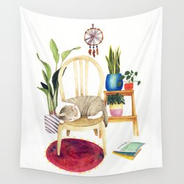 Cat Cozy Room Wall Tapestry