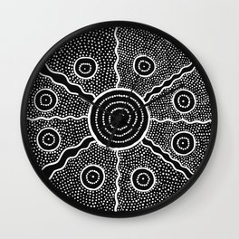 Tribe Pattern Wall Clock