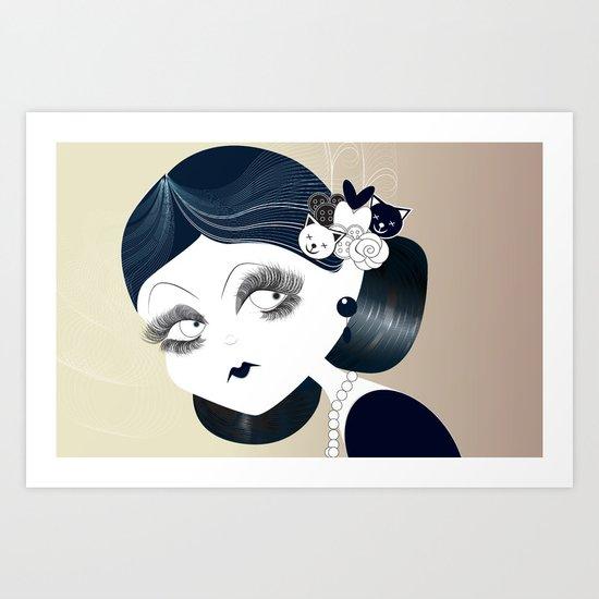 Savanah Black Art Print