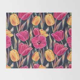 Tulips in the Spring Throw Blanket