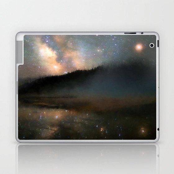 Milky Way Over Yellowstone Laptop & iPad Skin