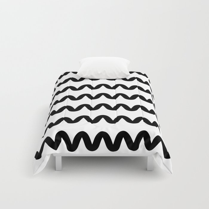 Squiggle pattern Comforters