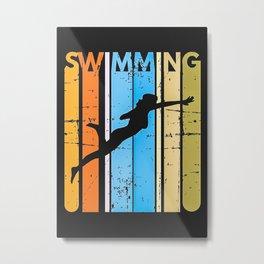 Swimming Team Gift Swimmer Metal Print