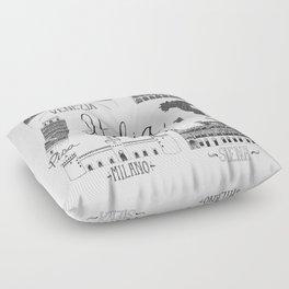Italian Landmarks Floor Pillow
