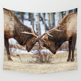 ELK IN RUT PHOTO - COLORADO WILDLIFE IMAGE - ROCKY MOUNTAIN NATIONAL PARK - NATURE PHOTOGRAPHY Wall Tapestry