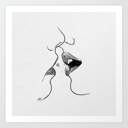 First kiss me . Art Print