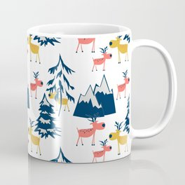 Deer in the winter forest. Coffee Mug