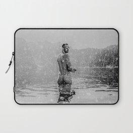 Alpine Snow Lake Nude Laptop Sleeve