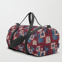 Creative patchwork. Star. The creative pattern. Duffle Bag