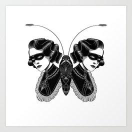 Lady butterfly Art Print