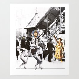 Down on Main Street Art Print