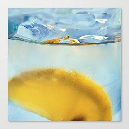 Refreshing Lemon Drink Canvas Print