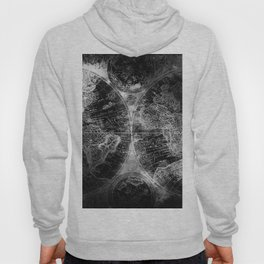 Antique Map Space Stars Black and White Hoody