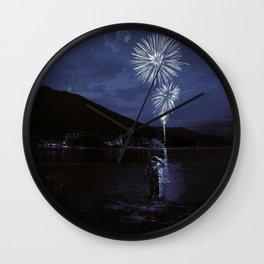 Constelaciónes de una estrella spiegel Wall Clock