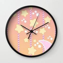 Tutti Fruity Moon Star Wall Clock