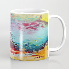 Unstrained Afro Blue Coffee Mug