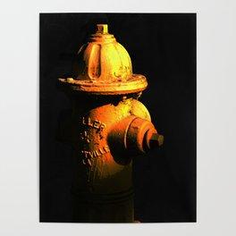 Fire Hydrant Orange and Black Art - Hot - Sharon Cummings Poster