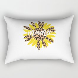 Mom Sunflower Leopard Cheetah Gift Mom Rectangular Pillow
