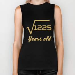 Square Root Of 1225 Funny 35 Years Old 35th Birthday Biker Tank