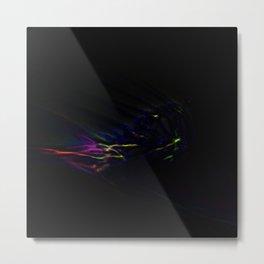 Aurora Borealis In Deep Space Metal Print