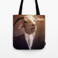 satan Tote Bags featuring Satan by Zombietron