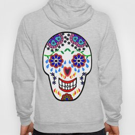 Sugar Skulls in Blue Hoody