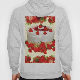 DELICIOUS STRAWBERRY  PARTY CAKE DESSERT Hoody