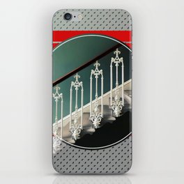 Stairway - red graphic iPhone Skin