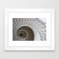 the spiral (architecture) Framed Art Print