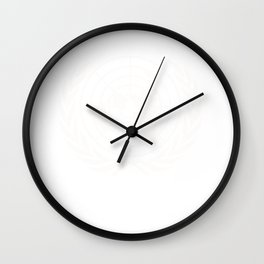 United Nations UN World Peace graphic Wall Clock