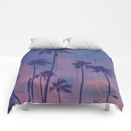 Sunset Palms Comforters
