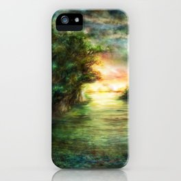 Sunset painting 1 iPhone Case