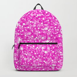 Hot Pink Glitter Texture Print Backpack