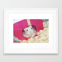 hamster Framed Art Prints featuring Hamster by UliD
