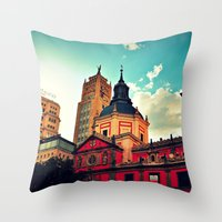 madrid Throw Pillows featuring Madrid Sky by Melanie Ann