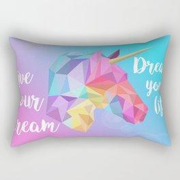 Pastel Unicorn Rectangular Pillow